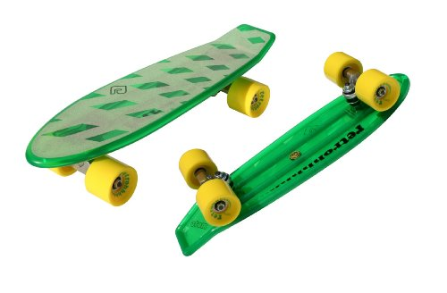 "Atom 21"" Mini Retroh Molded Skateboard - Green"