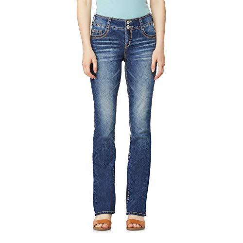 WallFlower Women's Instastretch Luscious Curvy Bootcut Jeans, Twinkle, 9 Short