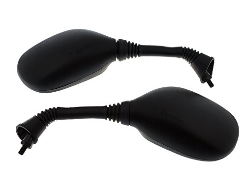 Spiegel Paar Schwarz E-geprüft für ATU China Scooter Kymco Qingqi Rex