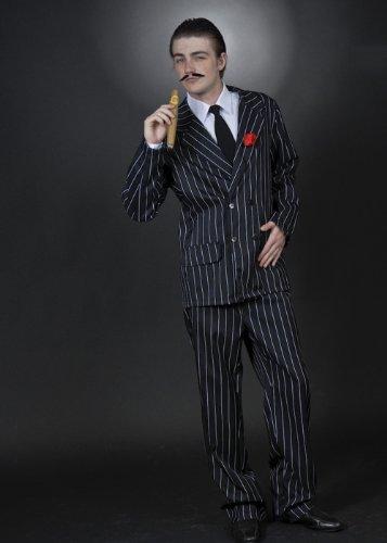 8in1 Mens Halloween Gomez Addams Stil Kostüm Large (42-44