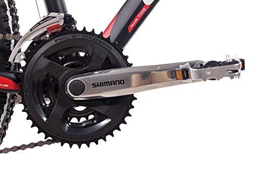 CHRISSON 26 Zoll Mountainbike Hardtail - Altero 1.0 schwarz - Hardtail Mountain Bike mit 24 Gang Shimano Acera Kettenschaltung - MTB Fahrrad für Herren und Damen Suntour Federgabel - 5