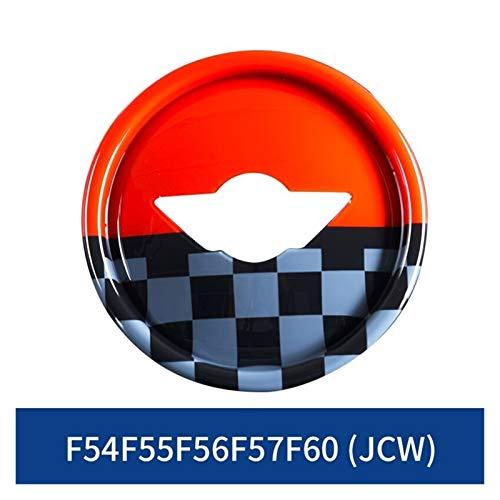 Tapas Para Llantas Etiqueta engomada del centro de la tapa del centro de la dirección del coche Compatible con BMW Mini Cooper F55 F56 F57 F60 R55 R56 R57 R60 Accesorios for automóviles Union Jack Sty