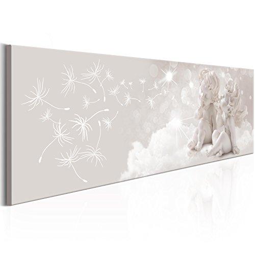murando - Bilder 150x50 cm Vlies Leinwandbild 1 TLG Kunstdruck modern Wandbilder XXL Wanddekoration Design Wand Bild - Engel Abstrakt Wolke Pusteblumen h-C-0050-b-a
