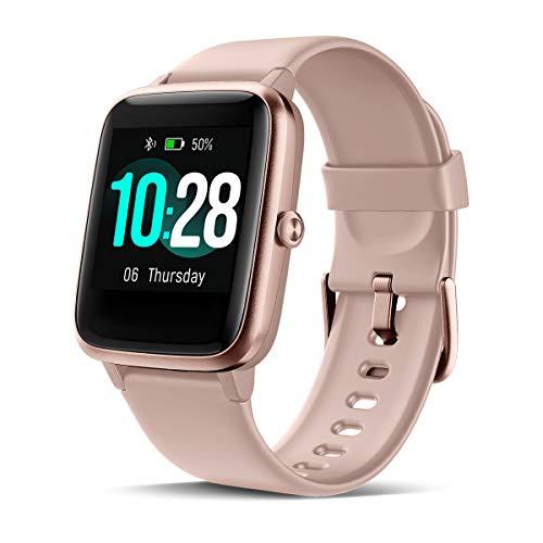 CHEREEKI Smartwatch Reloj Inteligente, Impermeable IP68 Pulsera Actividad con Ritmo Cardíaco, Reloj de Fitness con Podómetro Smartwatch Hombre Mujer para Xiaomi Huawei Teléfono (Rosa)