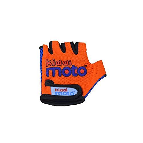 KIDDIMOTO Kinder Fahrradhandschuhe Fingerlose für Jungen und Mädchen/Fahrrad Handschuhe/Bike Kinder Handschuhe - Orange - S (2-5y)