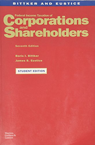Federal Income Taxation of Corporation and Shareholders