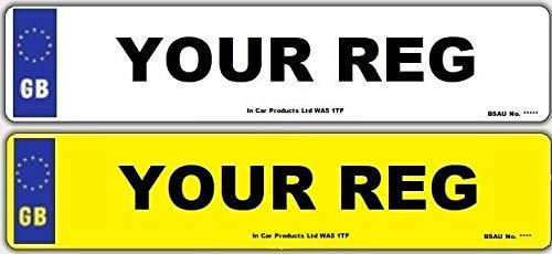 Inex Pair 3D GB MOT UK Road Legal Car Van Reg Registration Number Plates & Fixings