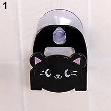 yanQxIzbiu Cartoon Animal Soap Sponge Suction Drying Holder Home Kitchen Bathroom Rack - Black