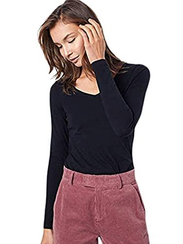 Esprit 999ee1k816 Camisa Manga Larga, Negro (Black 001), Medium para Mujer