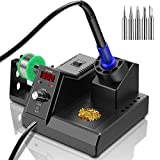 Soldering Station, 110V 80W Digital Soldering Iron Kit with Smart Temperature Control...