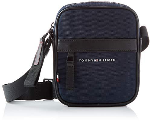 Tommy Hilfiger Elevated Nylon Mini Reporter, Bolsas. para Hombre, Cielo del Desierto, One Size