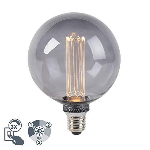 LUEDD LED lamp G125 E27 5W 2000K smoke 3-staps dimbaar