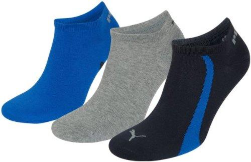 Puma - Chaussettes - Uni - Homme-Lot de 3 - Multicolore (Marine/Gris/Bleu) - 39-42