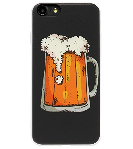 Adel Silicone TPU Back Cover Softcase Custodie Cellulari Compatibile con iPhone 8 Plus/ 7 Plus - Birra Drink