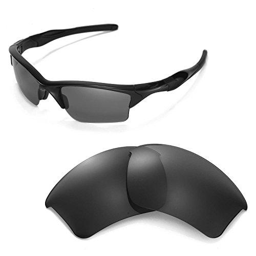 Walleva Ersatzgläser für Oakley Half Jacket 2.0 XL Sonnenbrille - Mehrfache Optionen (Schwarz)