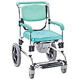 DLC@ED Rollstuhl - Fußbremse kann als Toilettenständer verwendet werden Einstellbare Aluminiumlegierung Geeignet für ältere Patienten mit jfdkj -