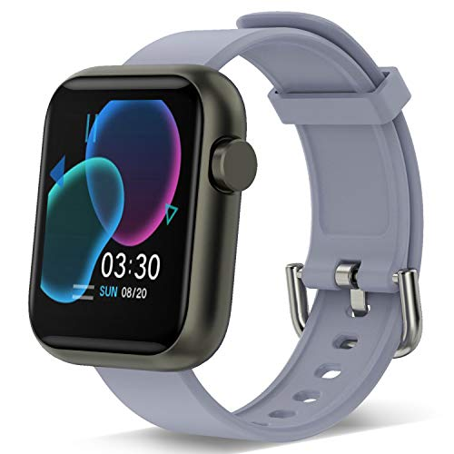 Smart Watch für Männer Frauen, Fitness Tracker mit 1.3 Touchscreen Herzfrequenzmesser Wasserdichter Schrittzähler Smartwatch für Sport Frauen Männer iOS Andriod Phone