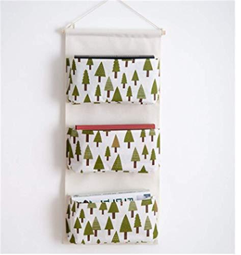 Storage hanging bag wardrobe hanging storage bag wall door finishing bag hanging wall hanging bag , fir tree forest