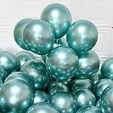 Palloncini festaioli 12inch 50 pezzi palloncini in lattice metallizzati Palloncini cromati Palloncini compleanno palloncini lucidi Decorazione festa matrimonio compleanno baby shower Festa natalizia