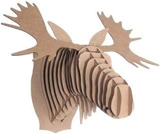 Cardboard Safari CBS1009 – Cabeza de cartón natural – Pequeño, natural, pequeño