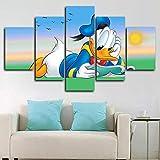 194Tdfc 5 Teilig Leinwand Wanddeko Donald Duck Poster