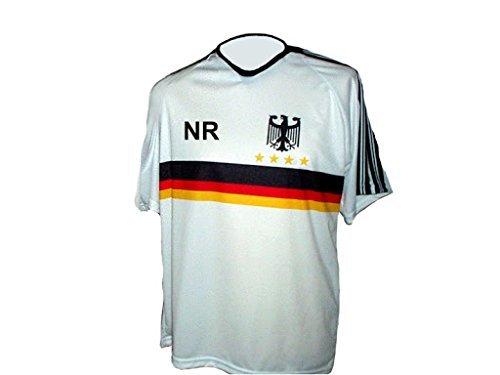Spielfussballshop Deutschland Trikot Adler mit Wunschname + Nummer Kinder Größen (110)