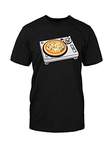 Pizza T-Shirt DJ Music Vinyl Platten Song Singer Sänger