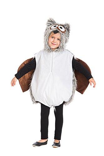 narrenkiste Oh2006-128-140 Kinder Eulen Weste Kostüm Gr.128-140