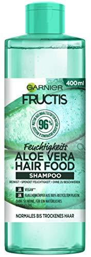 Garnier Fructis Hair Food Shampoo, Feuchtigkeitsspendendes Aloe Vera, vegane Formel, für normales, trockenes Haar, 400 ml