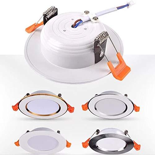 JJSCCMDZ Downlight 220V LED Downlight del Punto del LED Downlight Regulable empotrada en el Techo del LED Downlight Luz (Emitting Color : White 6000K, Wattage : 5W Chip Lamp Beads)
