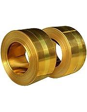 HAOKTSB Placa de latón Placa de lámina de Cobre de lámina de latón for manualidad de metalería, fabricación de Joyas, fácil de Forma y Flexible (Longitud: 1M) Hoja de lámina de Cobre Puro