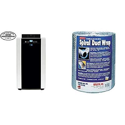 Whynter Eco-Friendly 14,000 Btu Dual Hose Portable Air Conditioner with Storage Bag, Black