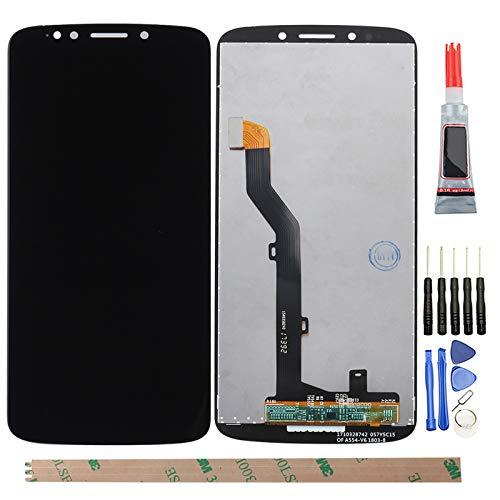 YHX-O - Pantalla LCD de repuesto para Motorola Moto G6 Play XT1922 (incluye cristal táctil), color negro