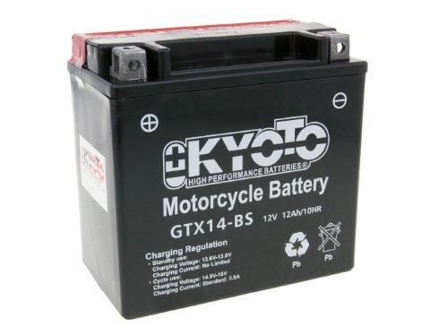 Kyoto Battery - Batteria da 12 V, modello GTX14-BS MF, non richiede manutenzione Moto Guzzi V7 750 Stone 14