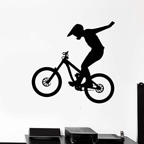 Zaosan Motocicleta Vinilo Pared calcomanía Bicicleta Bicicleta Deportes Extremos Estilo Libre Pegatina en guardería Dormitorio decoración Accesorios extraíble30x30 cm