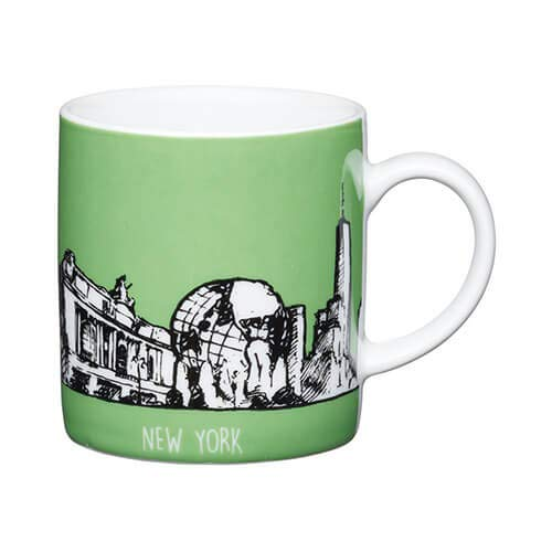 Kitchen Craft New York grün Porzellan Espresso Tasse