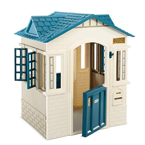 Little Tikes Cape Cottage Playhouse for Kids - Outdoor Playset and Indoor Playground for Toddlers with 2 Working Doors - Pretend Play House Educational and Interactive Toy