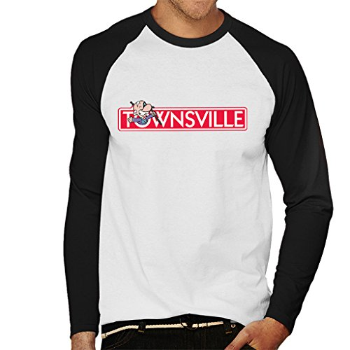 Cloud City 7 Powerpuff meisjes Townsville Monopolie mannen honkbal lange mouwen T-Shirt
