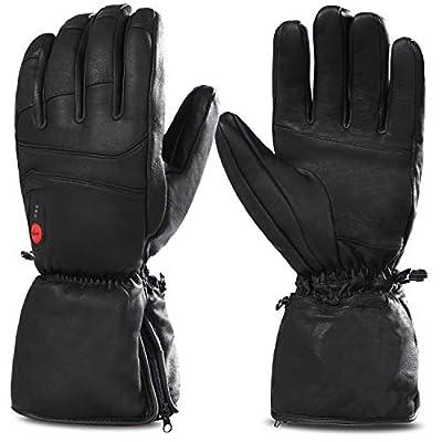Savior Heated Gloves for Men Women, Electric Heated Gloves,Heated Ski Gloves (S)