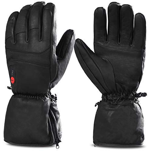 Savior Heated Gloves for Men Women, Electric Heated Gloves,Heated Ski Gloves (XL)