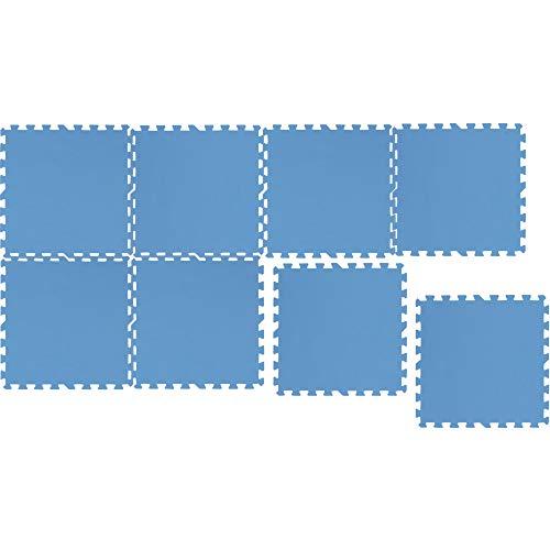 Bestgoodies Esterilla protectora para el suelo, 8 unidades (50 x 50 x 0,4 cm) – 2 m² – Esterilla protectora para aparatos de fitness, yoga, fitness