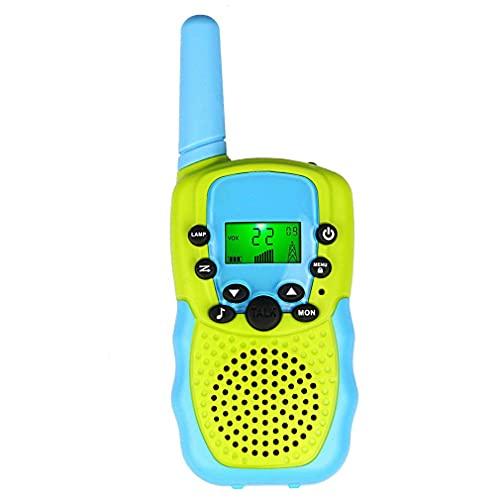 Persdico Walkie Talkies 22 Canales Radio Juguetes para Exteriores e Interiores Regalo para niños o niñas Pantalla LCD Walkie Talkie para niños
