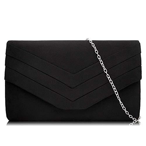 Milisente Damen Klassische Envelope Clutch Elegante Clutch Bag Tasche Abendtasche