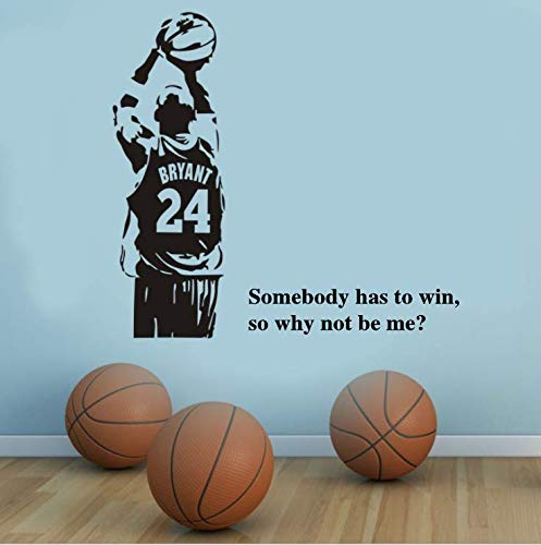 Basketball Inspirational Wall Decal Stickers Basketball Quote Decals #24 Decal Somebody Has to Win So Why Not Be Me Quote Decals