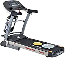 Health Life V4000M Multi-function Motorized Treadmill With Personal Scale -140 KG, 4 Horse Power, Black/Grey