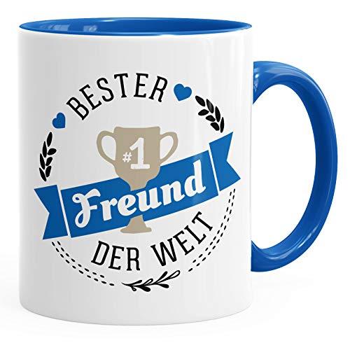 Kaffee-Tasse bester Freund der Welt Geschenk für Freund MoonWorks® royal unisize