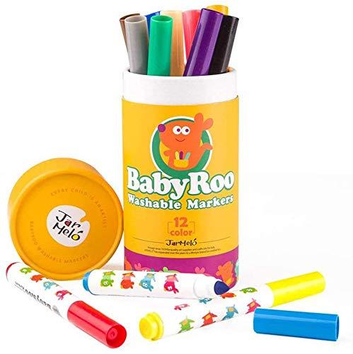 Happykids 落書き水性ペン 子供用カラーペン 塗り絵 消せる水彩ペン 速乾 収納ケース付き 12色セット