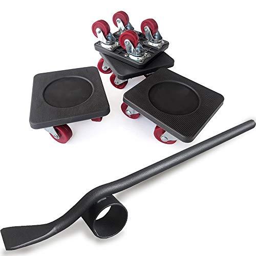 PULLEY Möbel Lifter mit 4 Stück bewegen Sliders Schwere Möbel Roller Verschieben Werkzeuge Max for 250KG / 551 LB, 360 Grad drehbar Pads (schwarz) (Size : C)