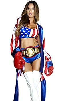 Forplay Women s Get  Em Champ Sexy Boxer Costume red S/M