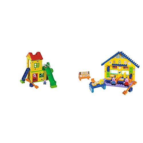 Big-Bloxx Peppa Pig Play House - Baumhaus, Construction Set, Big-Bloxx Set bestehend aus Peppa, Schorsch und Haus, 75 Teile, für Kinder ab 18 Monaten & BAU- & Konstruktionsspielzeug, Mehrfarbig